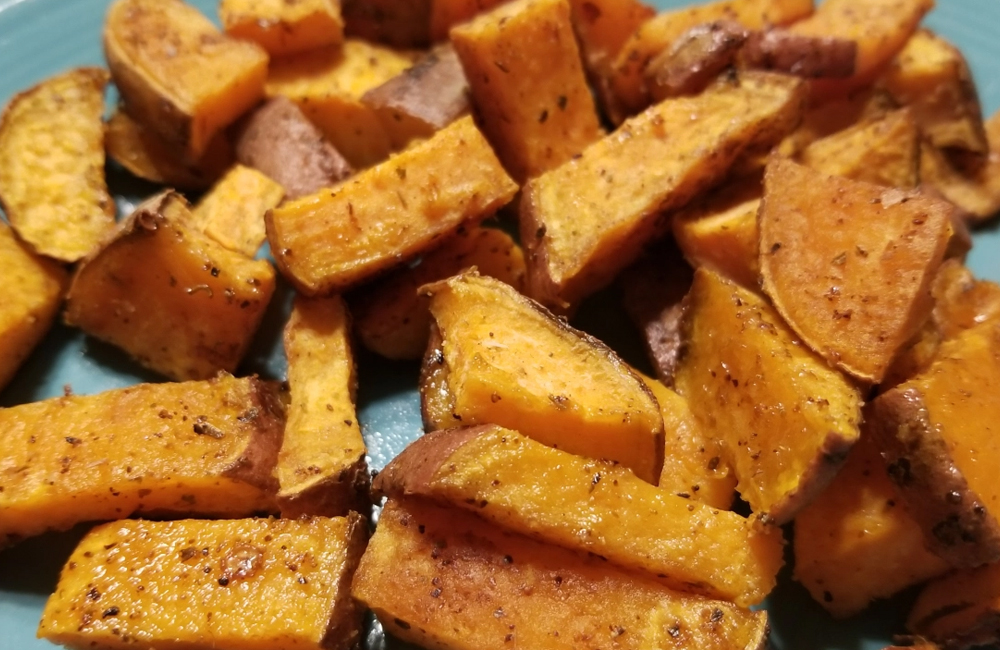 Read more about the article Big Guy Savory Sweet Potatoes